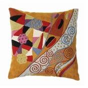 Povlak na polštář Klimt Blue/Tan, 45x45 cm