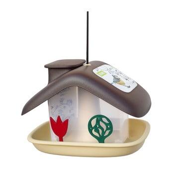 Căsuță pentru păsări Plastia Domek, maro imagine