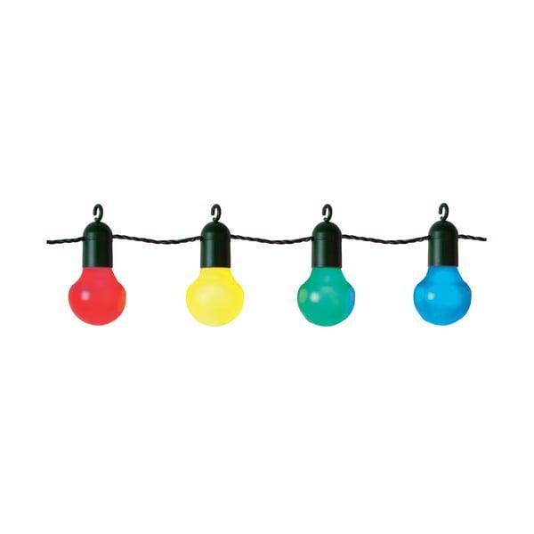 Farebná svetelná LED reťaz vhodná do exteriéru Best Season Party, 20 svetielok