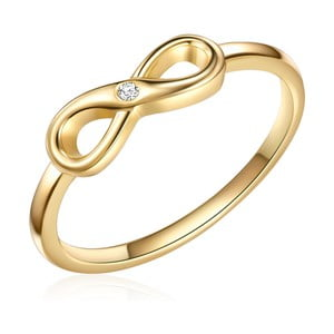 Pozlacený prsten s pravým diamantem Tess Diamonds Emmy, vel. 56