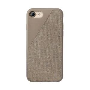 Béžový obal na mobilní telefon pro iPhone 7 a 8 Native Union Clic Canvas Case