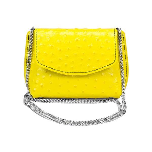Kožená kabelka Milly Yellow