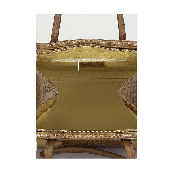 Kožená kabelka Giorgio Costa 15018 Cognac