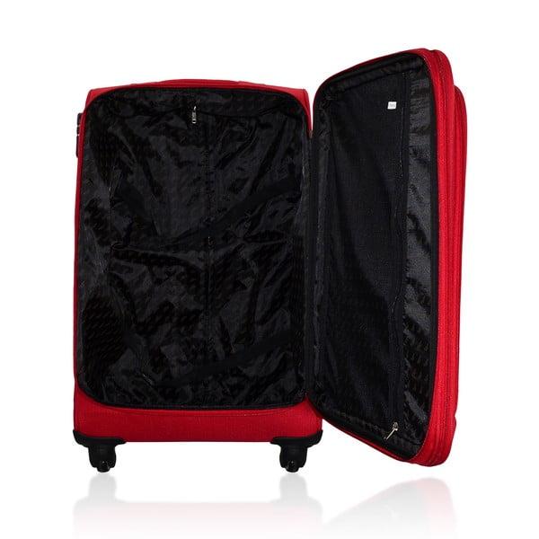 Sada 3 cestovních zavazadel Valises Avec Poly Red