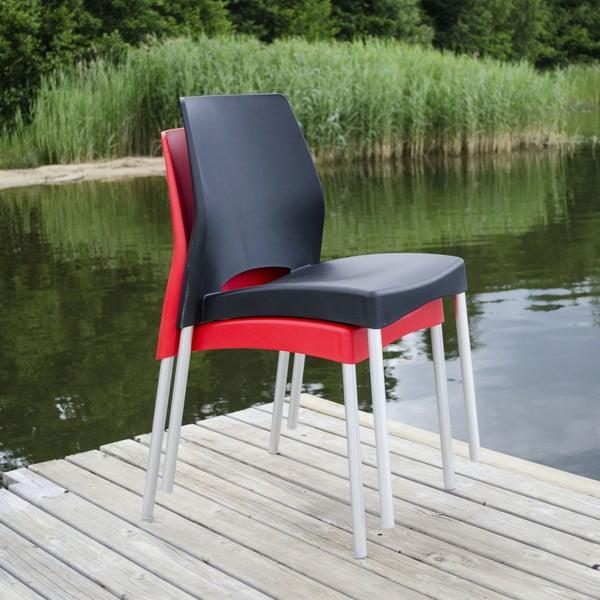 Židle Breeze Black, vhodná do interiéru i exteriéru