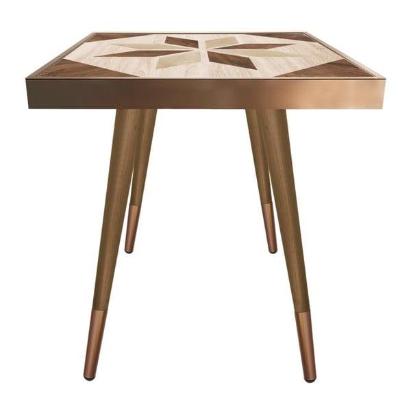 Príručný stolík Caresso Wooden Star Square, 45 × 45 cm