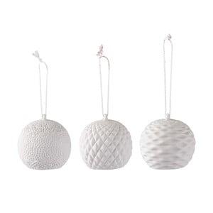 Sada 3 závěsných dekorací s LED světýlky Villa Collection Balls