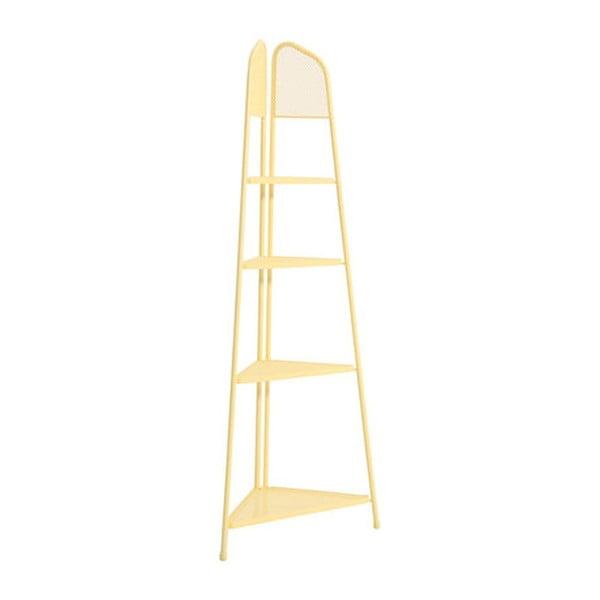Etajeră metalică pe colț pentru balcon ADDU MWH, înălțime 180 cm, galben