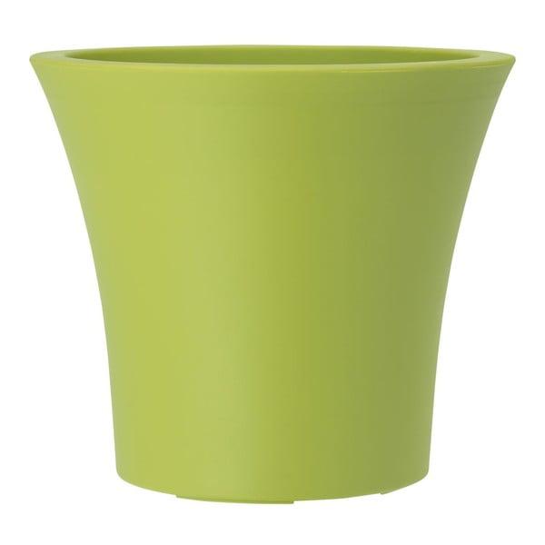 Květináč City Curve Green, 30x27 cm
