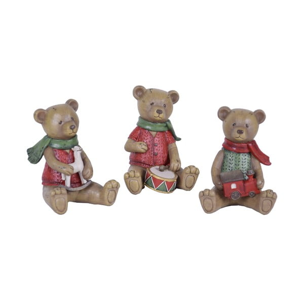 Sada 3 vánočních dekorací ve tvaru medvídka Ego Dekor