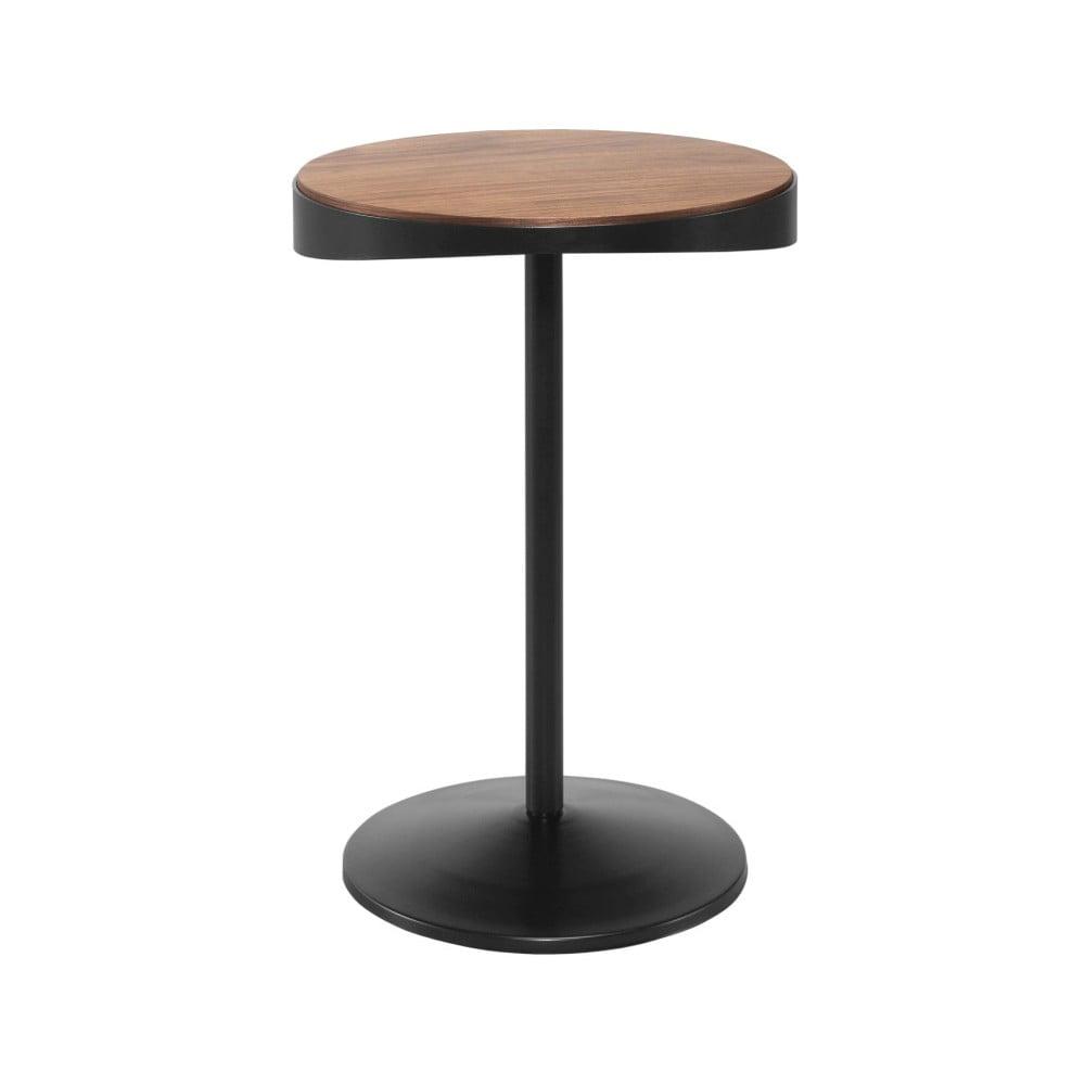 Odkládací stolek s deskou z ořechového dřeva Wewood - Portuguese Joinery Drop, Ø40cm
