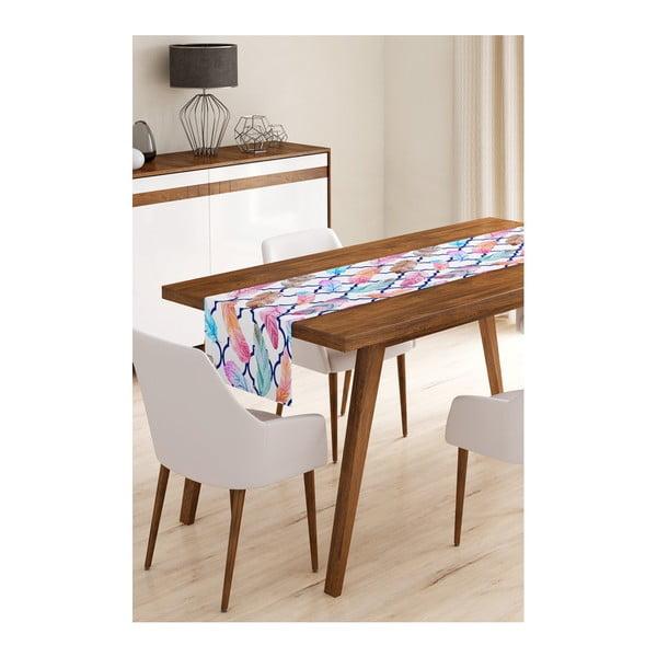 Běhoun na stůl z mikrovlákna Minimalist Cushion Covers Color Feathers, 45x145cm