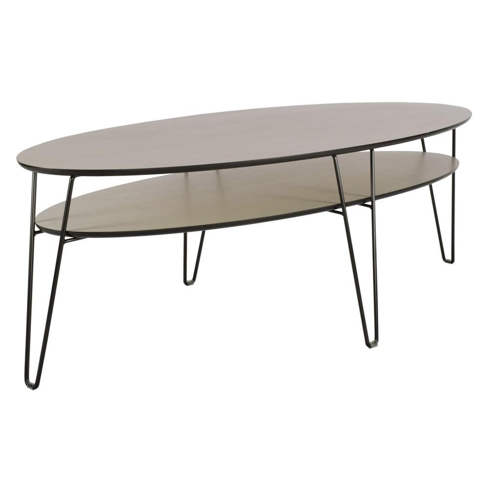 Konferenční stolek s černými nohami RGE Leon, šířka150cm
