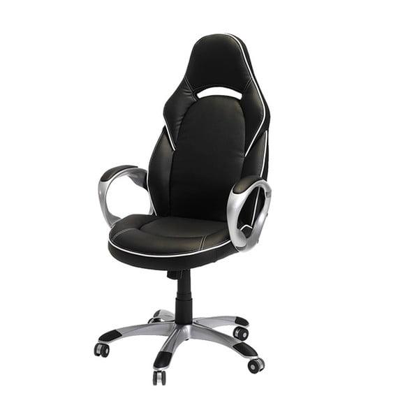 Czarno-biały fotel biurowy Furnhouse Speedy