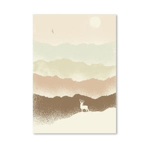 Poster Deer Mountain de la Florenta Bodart, 30x42 cm