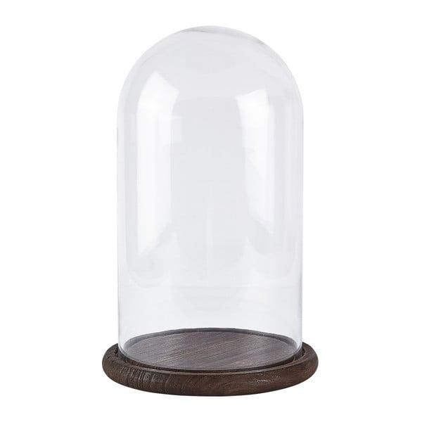 Skleněná dóza KJ Collection Wood Glass, 34 cm