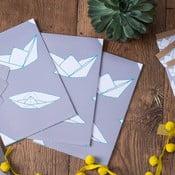 Balící papír Boats, 3 listy