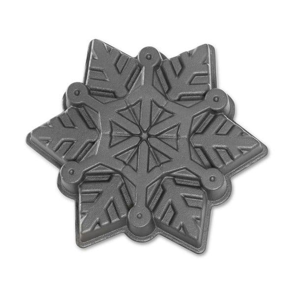 Formă pentru copt Nordic Ware Snowflake, 1,4 l, argintiu