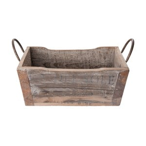 Dřevěný úložný košík Clayre&Eef Parisso