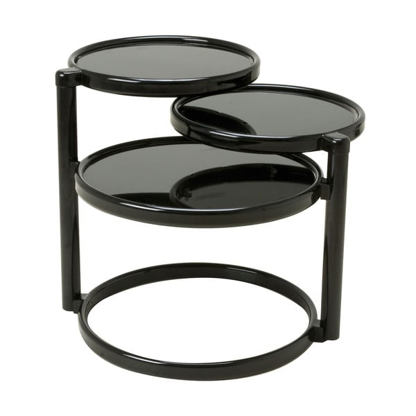 Menší otočný stolek, černý