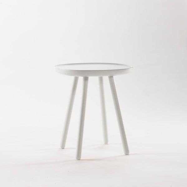 Bílý odkládací stolek z masivu EMKO Naïve Small, ø45cm