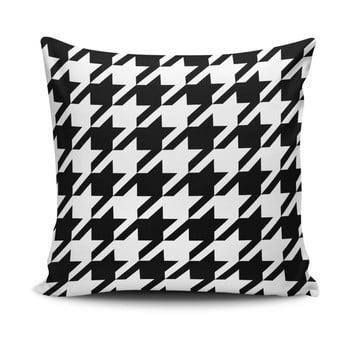 Față de pernă Calento Turia, 45 x 45 cm, negru – alb de la Cushion Love