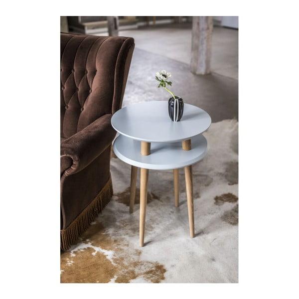 Tmavě šedý konferenční stolek Ragaba UFO,⌀45 cm