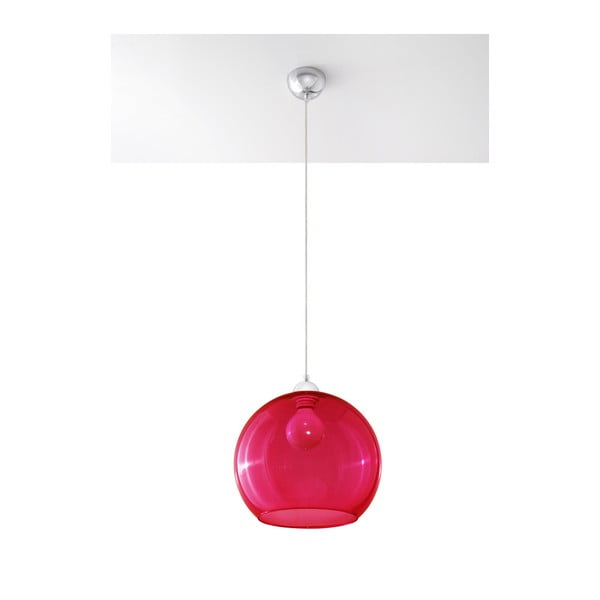 Lustră Nice Lamps Bilbao, roșu