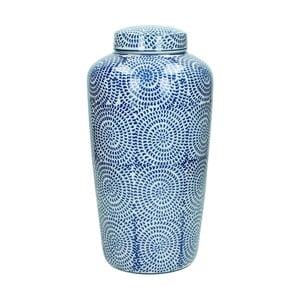 Modrá porcelánová váza HF Living, 36 cm