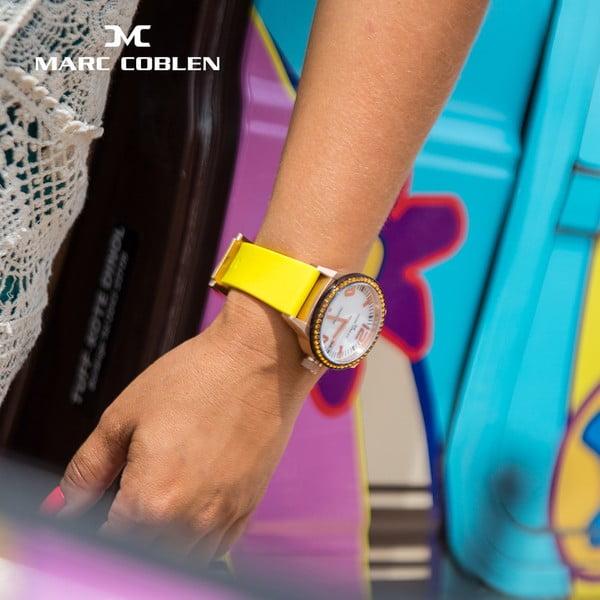 Dámské hodinky Marc Coblen s páskem a kroužkem navíc P29