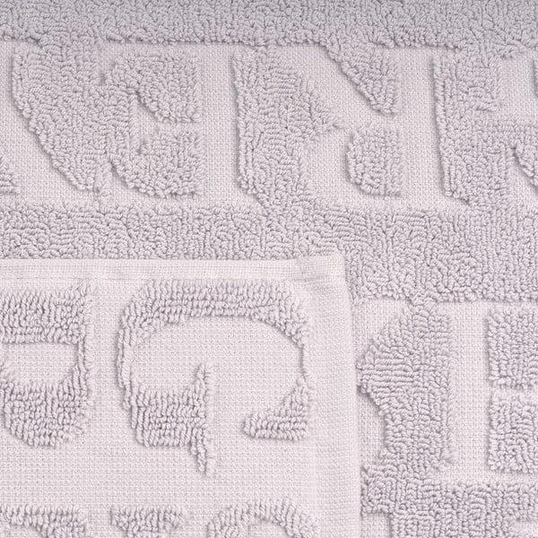 Set 2 šedých ručníků a 2 osušek z bavlny Casa Di Bassi Typo