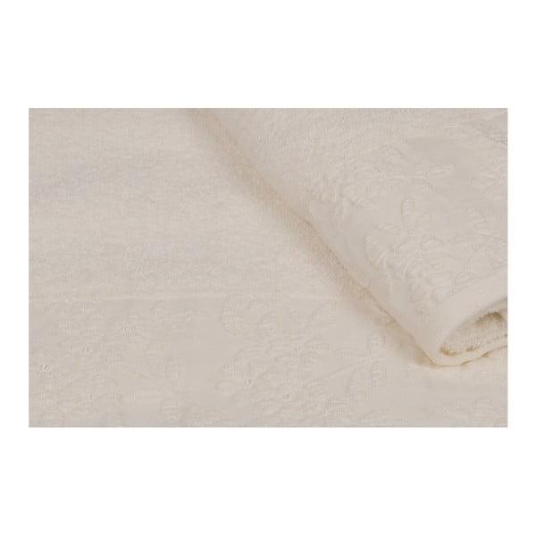 Sada 2 béžových ručníků z čisté bavlny Viola, 90 x 150 cm