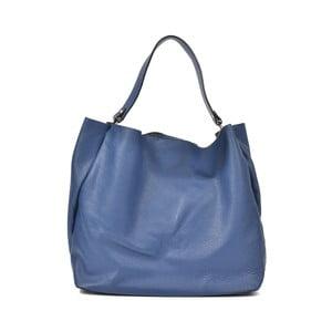 Poșetă din piele Luisa Vannini Claudia, albastru