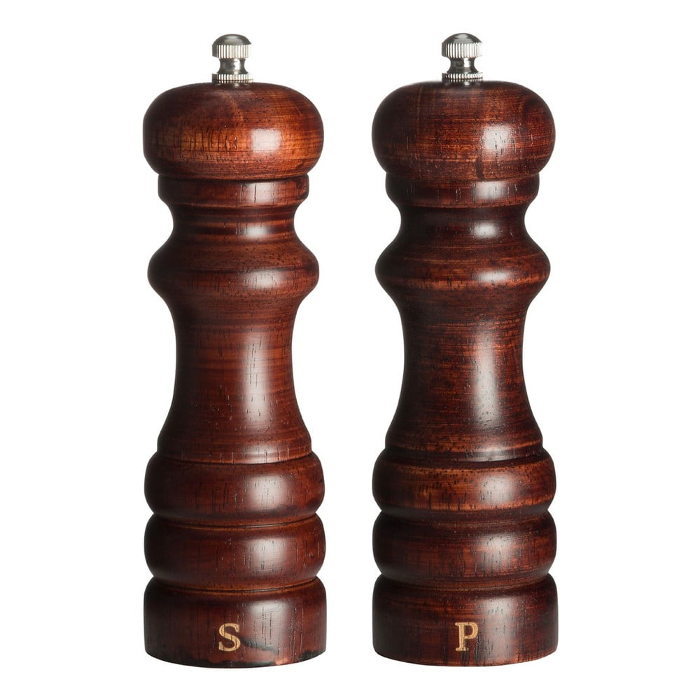 Sada 2 dřevěných mlýnků na pepř a sůl Premier Housewares John Premier Housewares