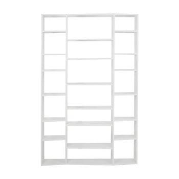 Bibliotecă TemaHome Valsa, lățime 144 cm alb