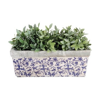 Jardinieră din ceramică Esschert Design, albastru - alb