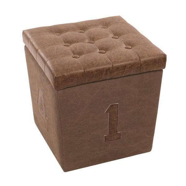 Stolička Box Brown, 40x40x44 cm