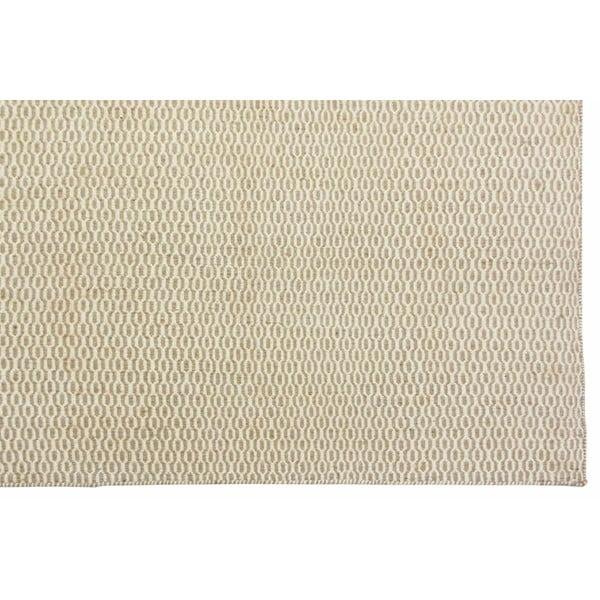 Vlněný koberec Flat, 100x150 cm, béžový