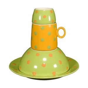 Dětská porcelánová sada Ramponi Baby Green