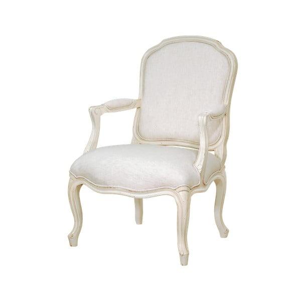 Scaun cu structură din lemn de mesteacăn Livin Hill Verona, alb crem