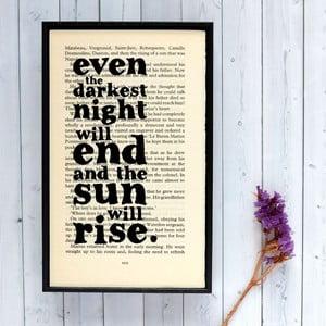 Plakát v dřevěném rámu Les Misérables Sun