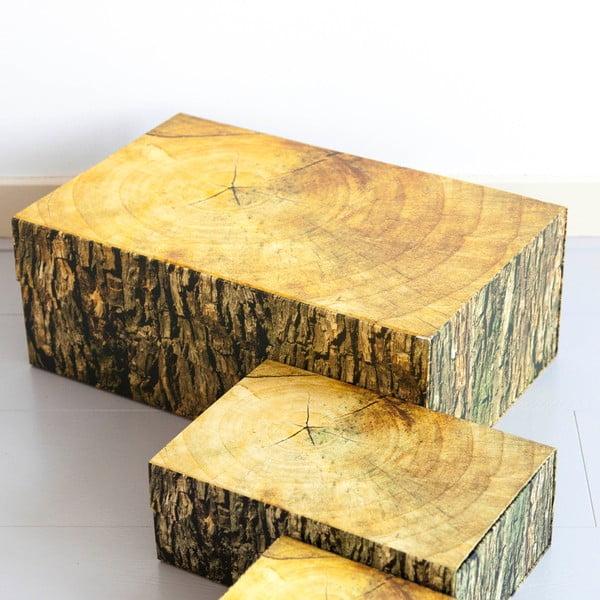 Úložná krabice Wodblock, 48x20 cm