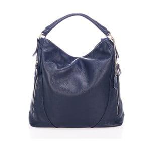 Modrá kabelka z pravé kůže Federica Bassi Carmit