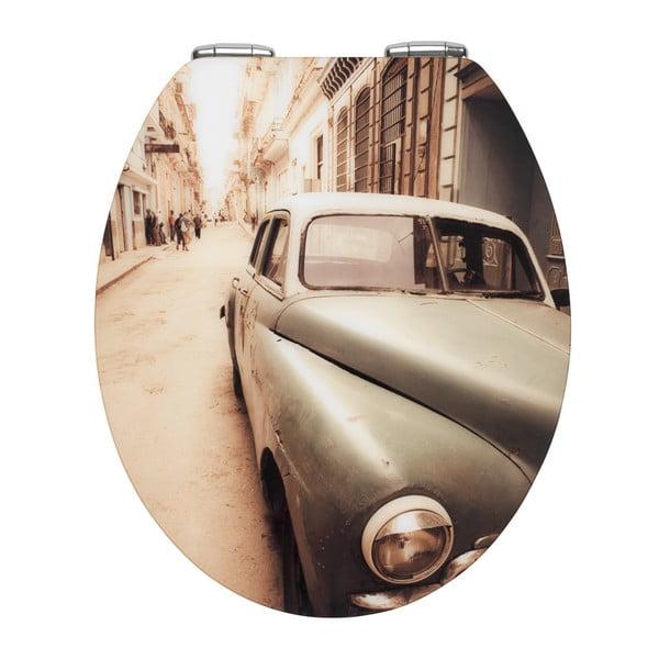 WC sedátko a snadným zavíráním Wenko Old Time Car, 44,5 x 38 cm