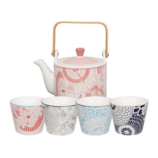 Zestaw dzbanka do herbaty i 4 małych czarek Tokyo Design Studio Baobab