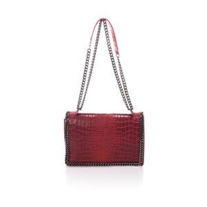 Červená kožená kabelka Lisa Minardi Cosma