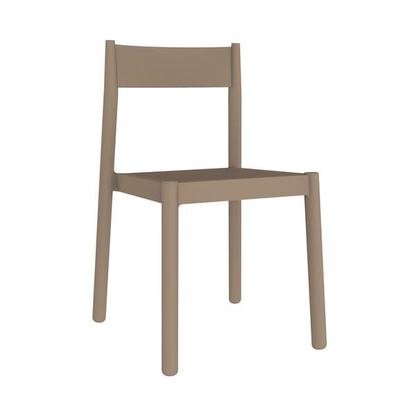 Sada 4 pískově hnědých zahradních židlí Resol Danna