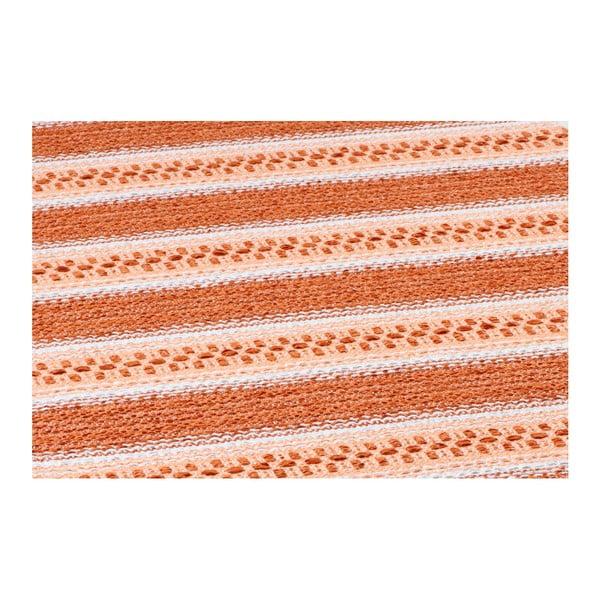 Oranžový běhoun vhodný do exteriéru Narma Runo, 70x350cm