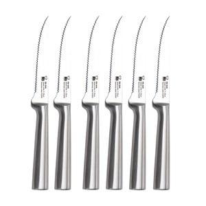Sada 6 stříbrných steakových nožů Bergner