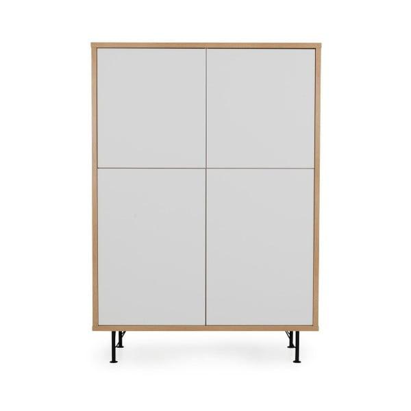 Bílá skříň Tenzo Flow, 111x153cm